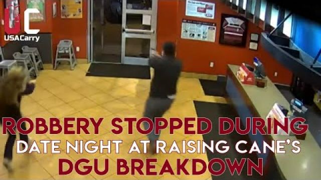 Robbery Thwarted by Couple on Date Night at Raising Cane's [DGU Breakdown]